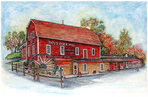 Yates Cider Mill by Margaret M. Glinke