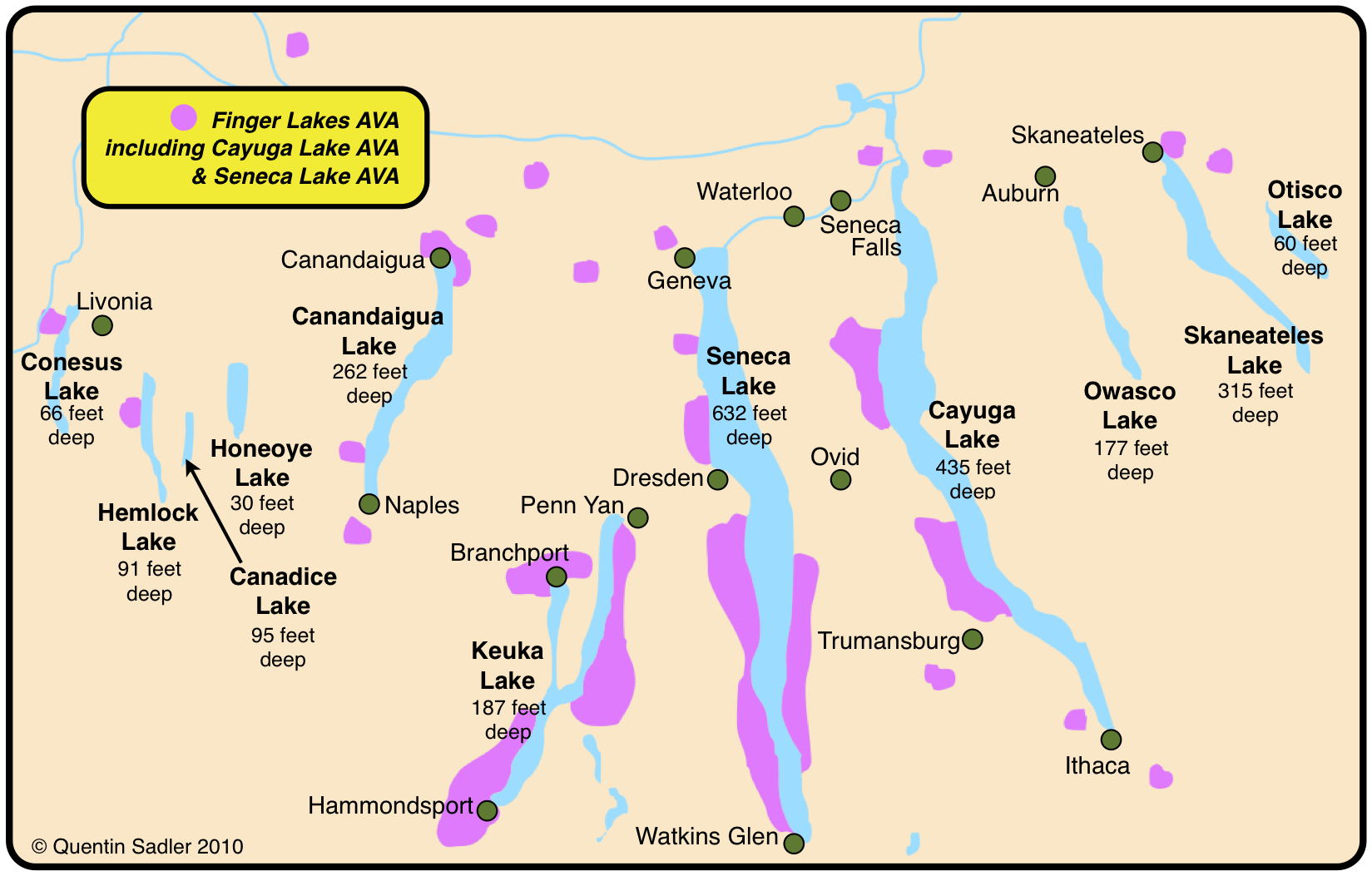 finger lakes wine country map Empire State Of Wine Essential Ny Maps Facts Grapes And Grains finger lakes wine country map
